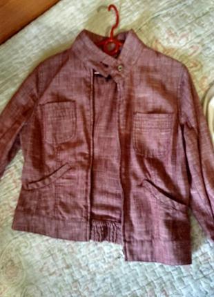 Куртка льняная жакет пиджак