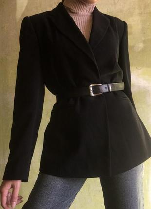 Пиджак винтаж жакет блейзер удлиненный приталенный