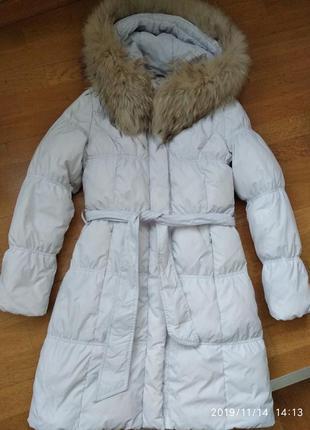 Пуховик зимний очень тёплый белый