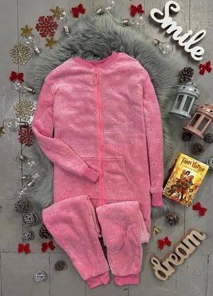 Теплая плотная флисовая пижама кигуруми слип №84