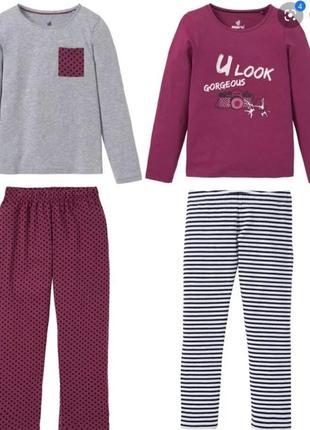 Новая стильная пижама/ пижамка на девочку / pepperts пижама 10-12 лет