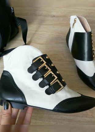 Новые кожаные стильные деми ботинки cosmoparis франция