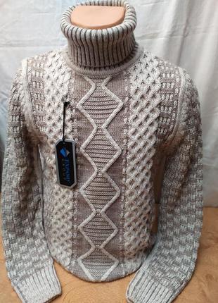 Красивый зимний свитер с высоким горлом .расцветки. турция