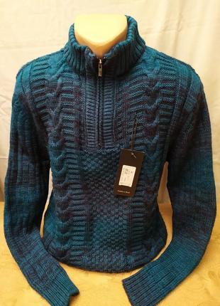 Теплый зимний свитер, полузамок . расцветки. турция