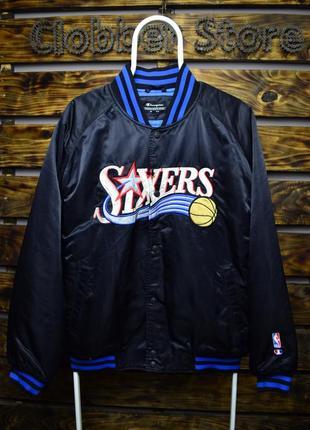Бомбер champion sixers nba баскетбольная куртка чемпион