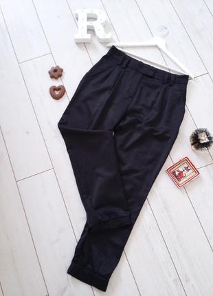 Брюки h&m высокая посадка штаны чиносы