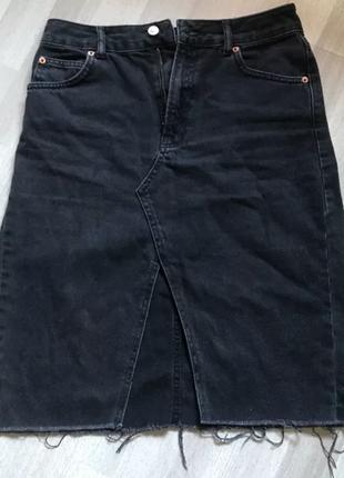Джинсовая юбка top_shop