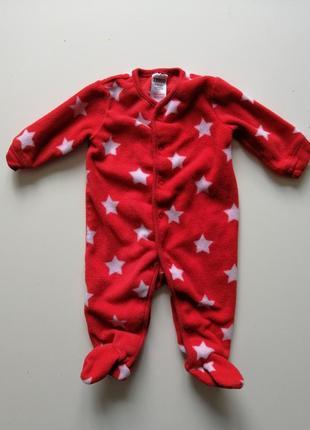 Флисовый бодик человечек пижама