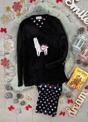 Теплая флисовая пижама лама №63