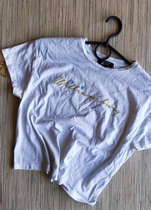 Стильная хлопковая футболка с надписью