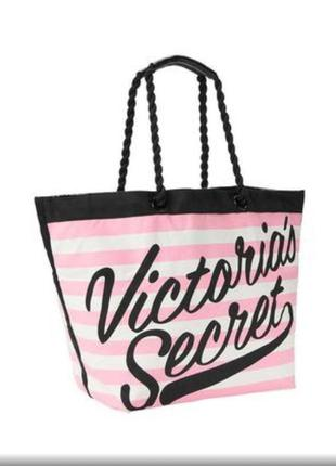 Пляжная сумка шоппер victoria's secret виктория сикрет оригинал