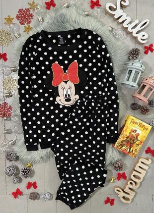Теплая флисовая пижама минни маус №67