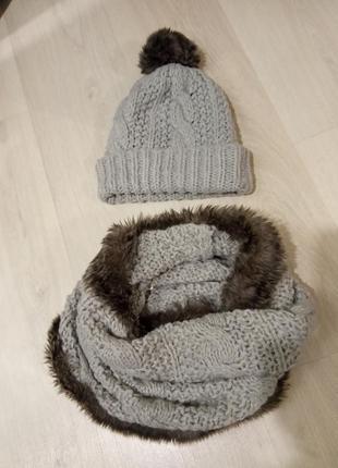 Комплект шапка снуд