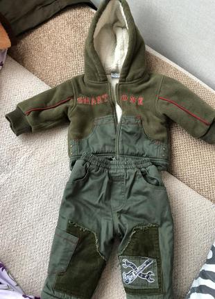 Зимний костюм на мальчика 6-9м