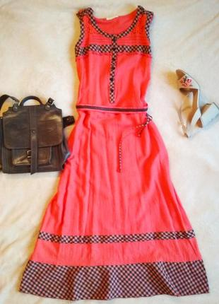 Платье сарафан льняное