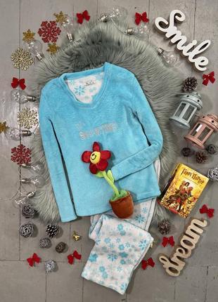 Теплая флисовая пижама №59