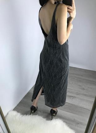 Вечернее платье с открытой спинкой