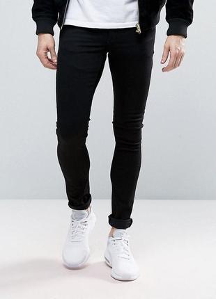 Berzhka super skinny fit джинсы мужские с потёртостями.