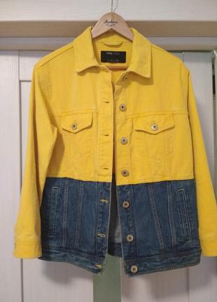 Стильная джинсовка куртка джинсовая жакет sinsay