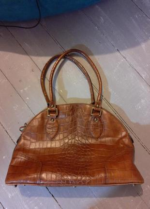 Кожанная сумка портфель basler