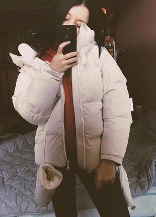 Куртка -зефирка с варежками