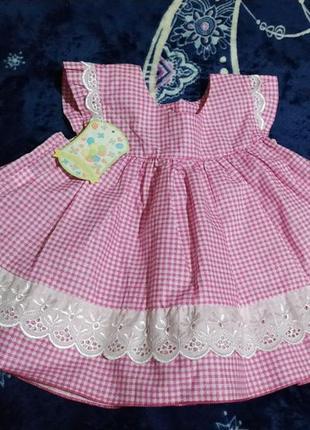 """Платье от """"маленьке сонечко""""  3-6мес"""