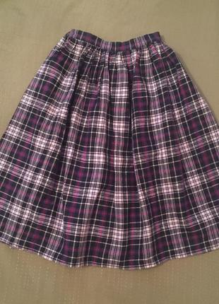 Фланелевая миди юбка american apparel