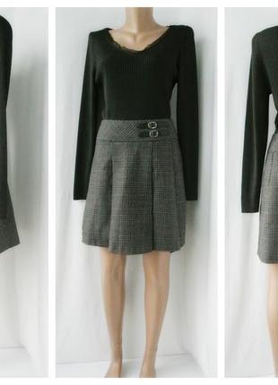 Стильная, модная, трендовая юбка f&f в клетку. размер uk10/38 (s/m).