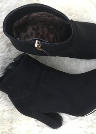 Полусапожки ботинки черевички сапоги  на удобном каблуке класика