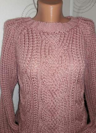 Объемный теплый свитер