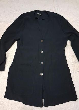 Блуза шелковая с разрезами
