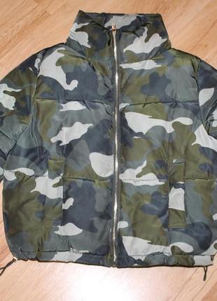 Тёплая оверсайс куртка, размер 34.