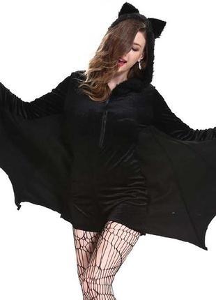Карнавальный костюм летучая мышь хэллоуин