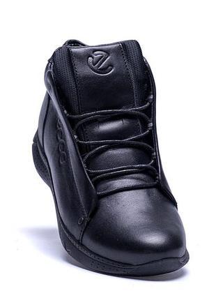 Мужские зимние кожаные ботинки е-series new kinhin (реплика)