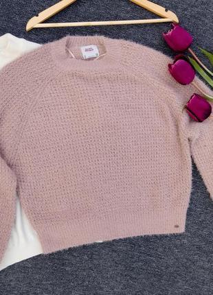 Крутой теплый объемный свитер с оленями рукавами  раз. s-m
