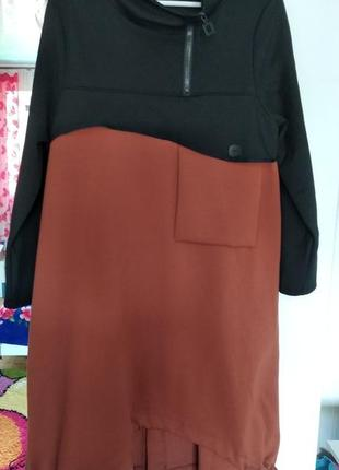 Модное демисезонное платье туника