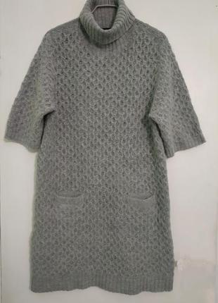 Теплое платье на зиму, вязаное с горлом /m/cop.copine