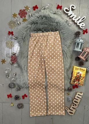 Теплые флисовые домашние брюки штаны №91