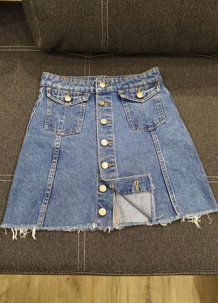 Модна джинсова спідниця