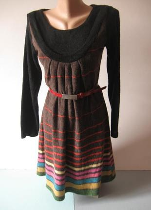 Теплое трикотажное платье - для прохладных дней!
