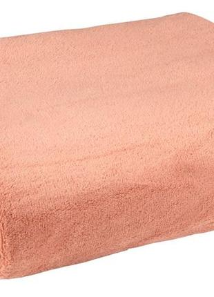 Плед флис 140x200см розового цвета