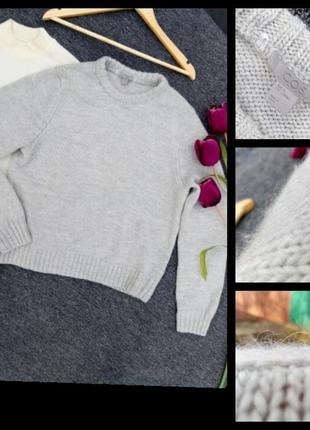 Теплый объемный шерстяной свитер от cos раз. м