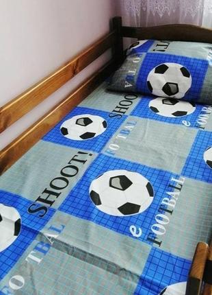 Детское постельное белье из бязи полуторное футбольный мяч