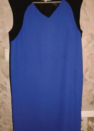 Платье incity, прямого кроя, синее с черный