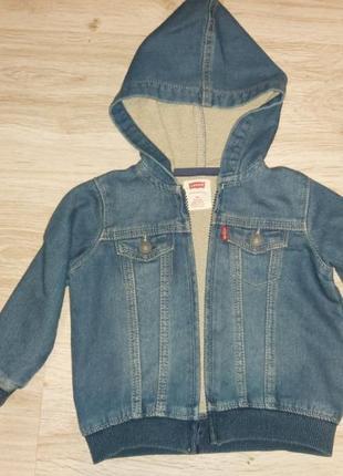 Levi's, фірмова джинсова кофта( куртка) 18 місяців