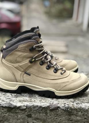 Оригинальные кожаные термо ботинки ecco gore tex receptor technology