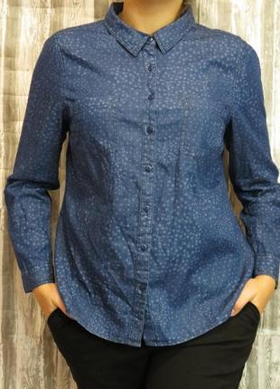 Супер женская  рубашка блуза  с длинным рукавом 100% коттон 16 размер
