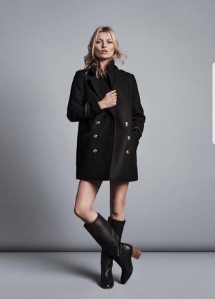 Пальто бушлат, пальто в стиле милитари zara размер s-m