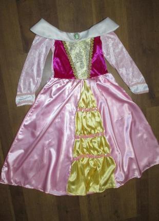 Принцесса золушка аврора спящая красавица 5-7 лет платье