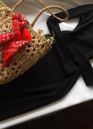 Базова трикотажна сукня в рубчик h&m s/36